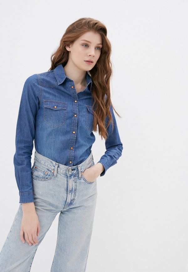 женская джинсовые рубашка springfield, синяя