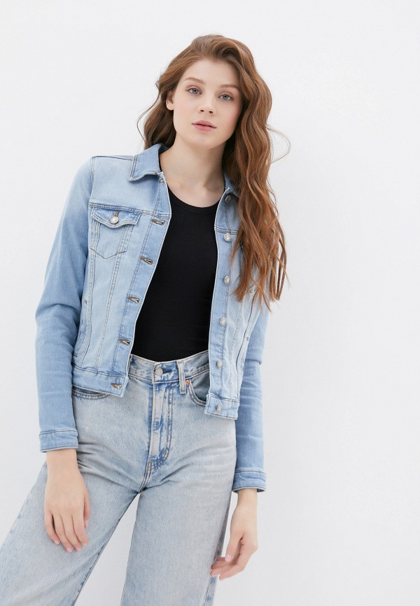 женская джинсовые куртка springfield, голубая