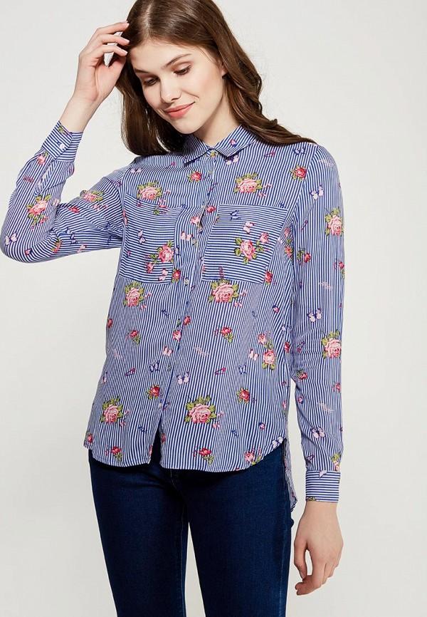 Купить Рубашка Springfield, sp014ewvgk77, синий, Осень-зима 2017/2018
