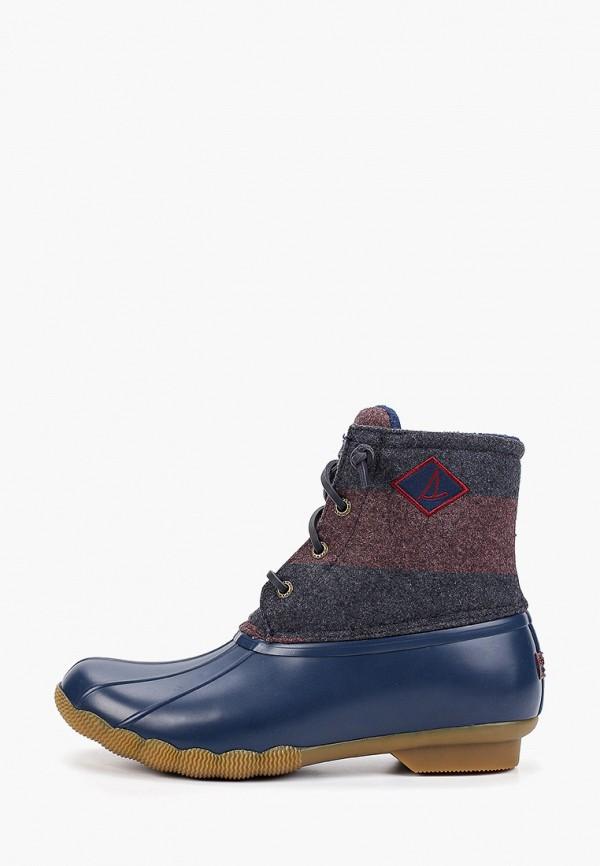 женские ботинки sperry top-sider, синие