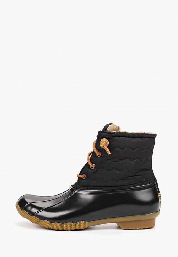 женские ботинки sperry top-sider, черные