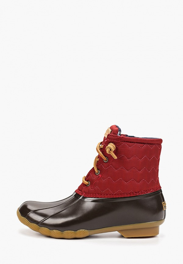 женские ботинки sperry top-sider, бордовые