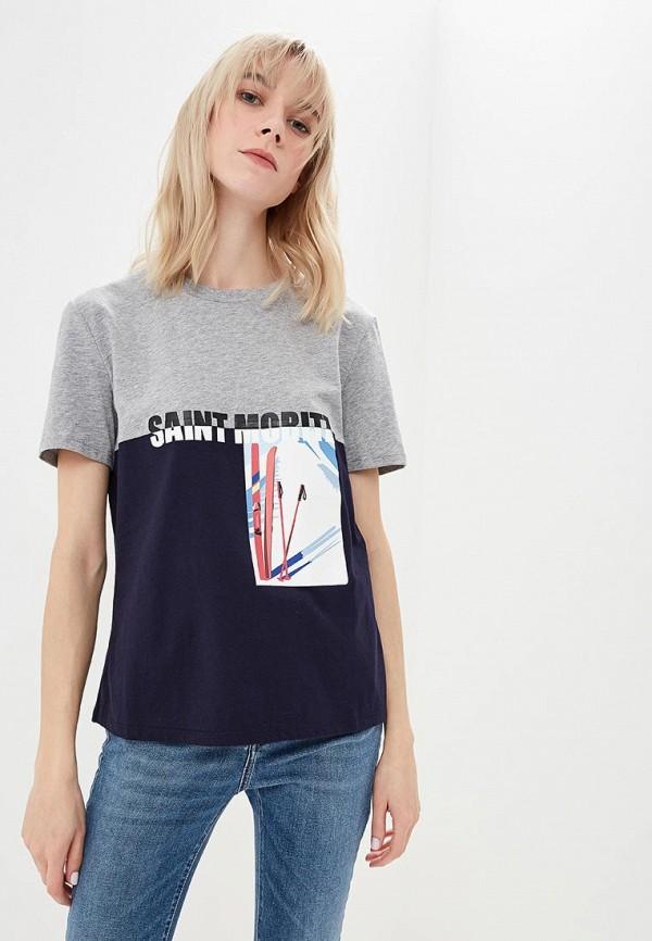 женская футболка sportmax code, синяя