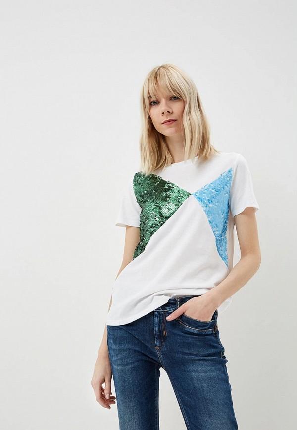 женская футболка sportmax code, белая