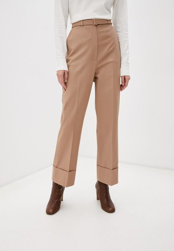 женские повседневные брюки sportmax code, бежевые