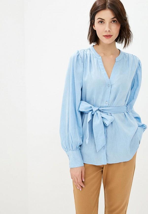 женская блузка sparkz copenhagen, голубая