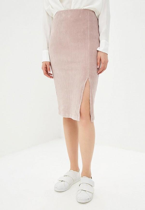 женская прямые юбка sparkz copenhagen, розовая