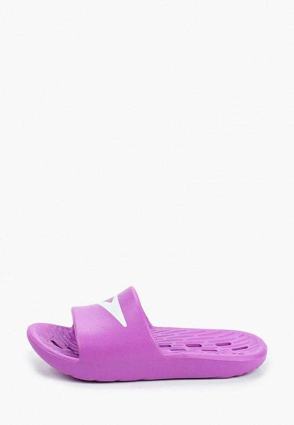 сланцы speedo для девочки, фиолетовые