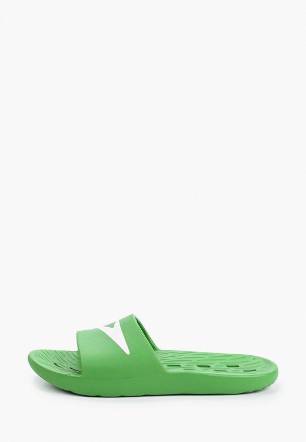 мужские сланцы speedo, зеленые