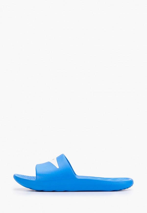 женские сланцы speedo, голубые