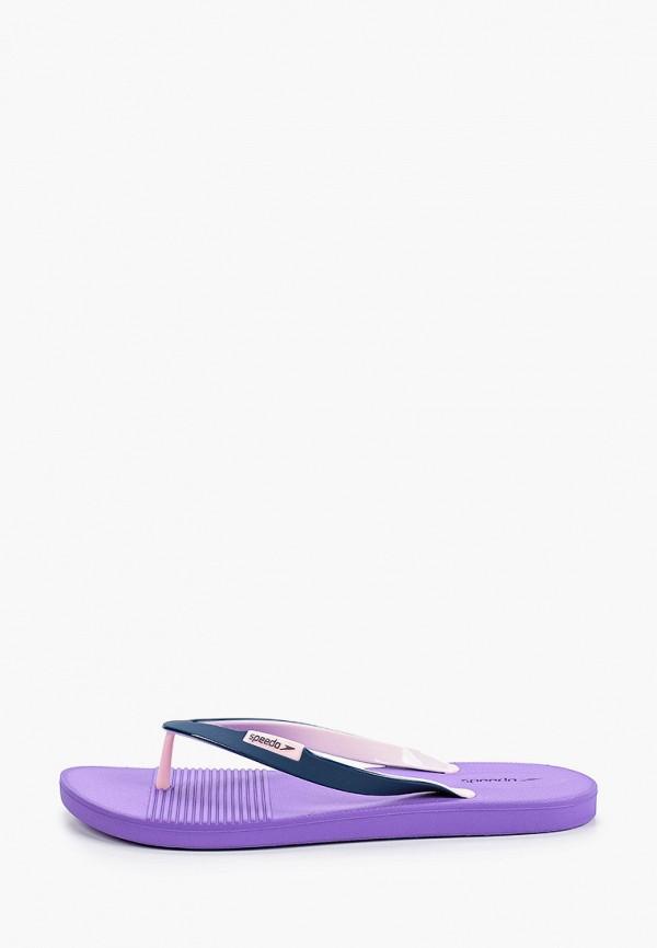 женские сланцы speedo, фиолетовые