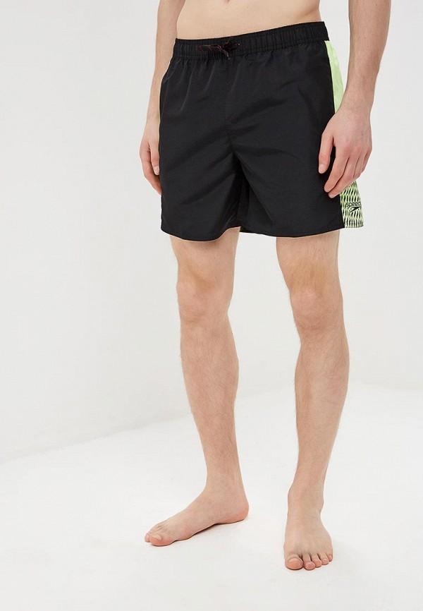 мужские спортивные спортивные шорты speedo, черные
