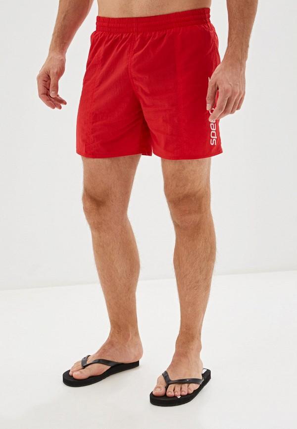мужские спортивные шорты speedo, красные