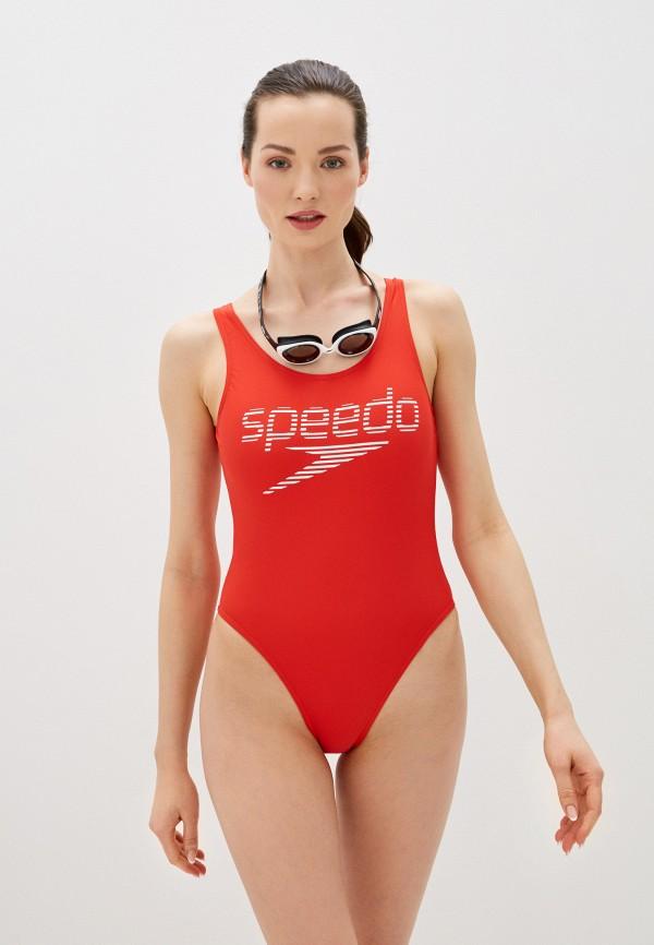 женский купальник speedo, красный