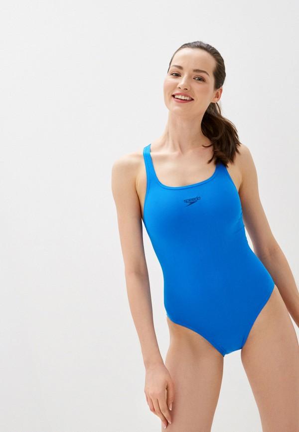 женский купальник speedo, синий
