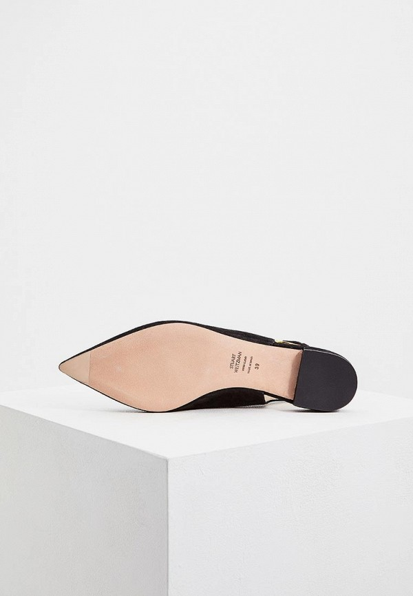 Фото 3 - женские туфли Stuart Weitzman черного цвета