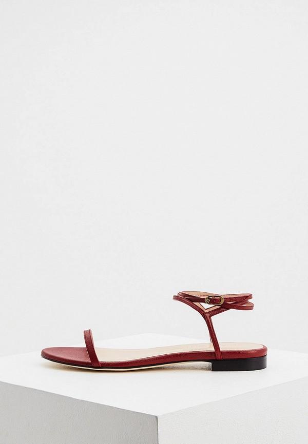 женские сандалии stuart weitzman, бордовые