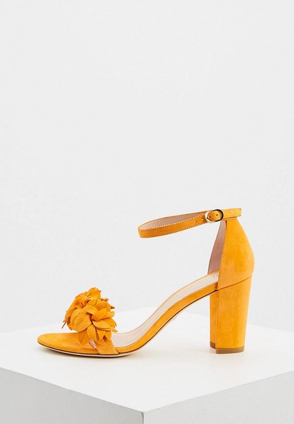женские босоножки stuart weitzman, желтые