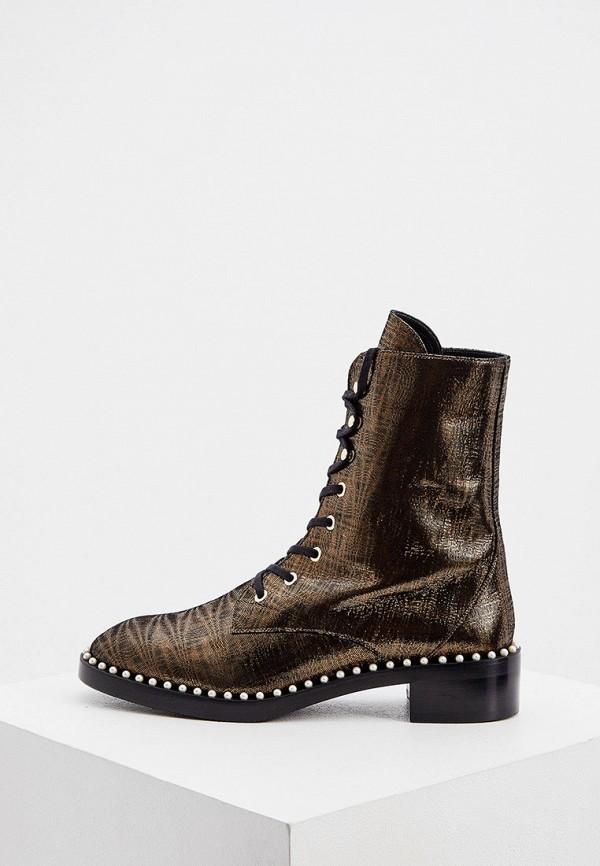 женские ботинки stuart weitzman, золотые