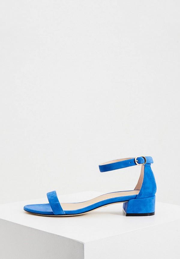 женские босоножки stuart weitzman, синие
