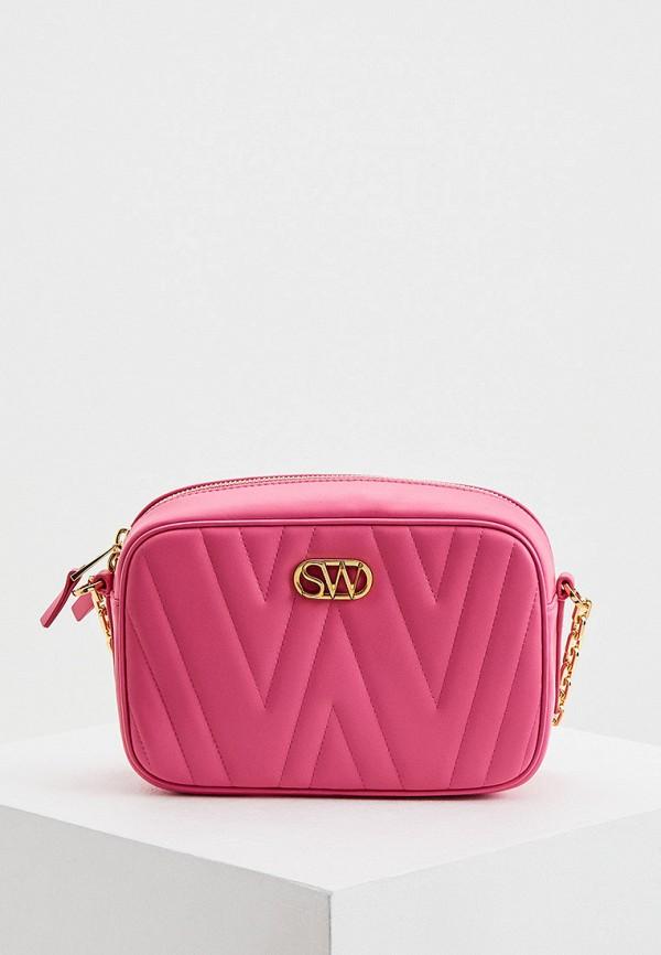 женская сумка stuart weitzman, розовая