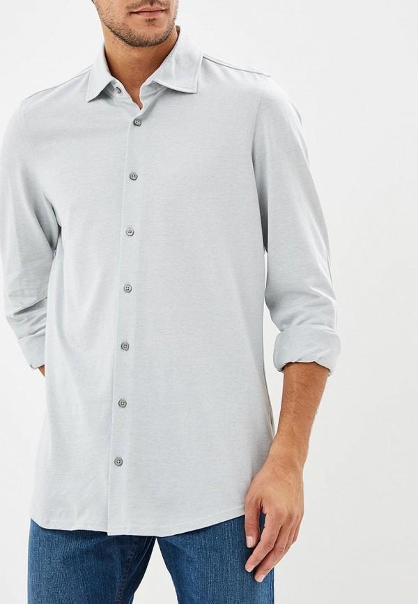мужская рубашка с длинным рукавом strellson, серая