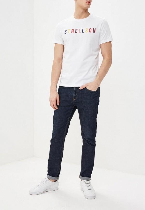 Фото 2 - мужскую футболку Strellson белого цвета