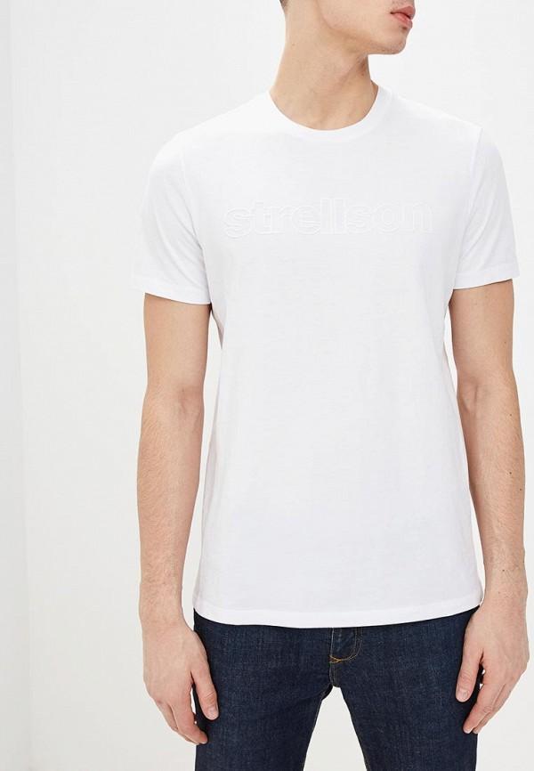 мужская футболка с коротким рукавом strellson, белая