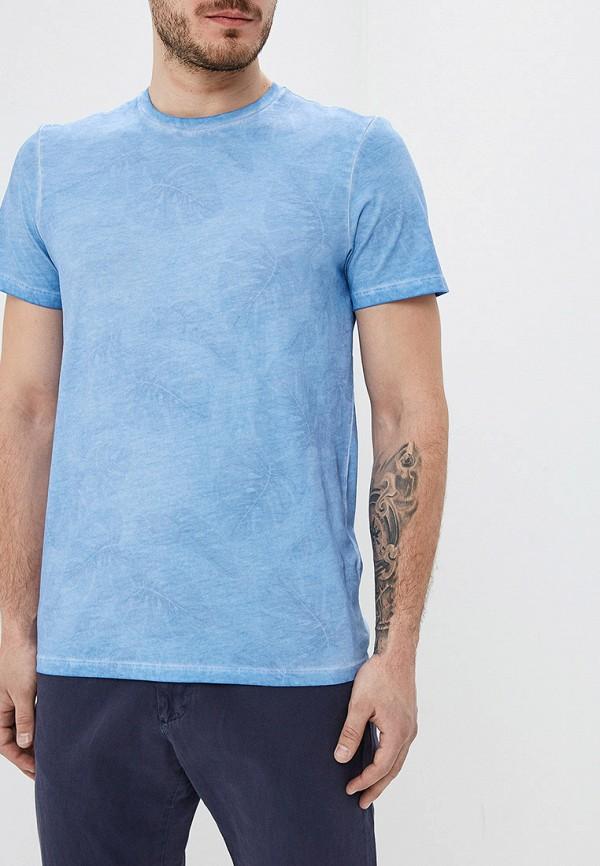 Фото - мужскую футболку Strellson голубого цвета