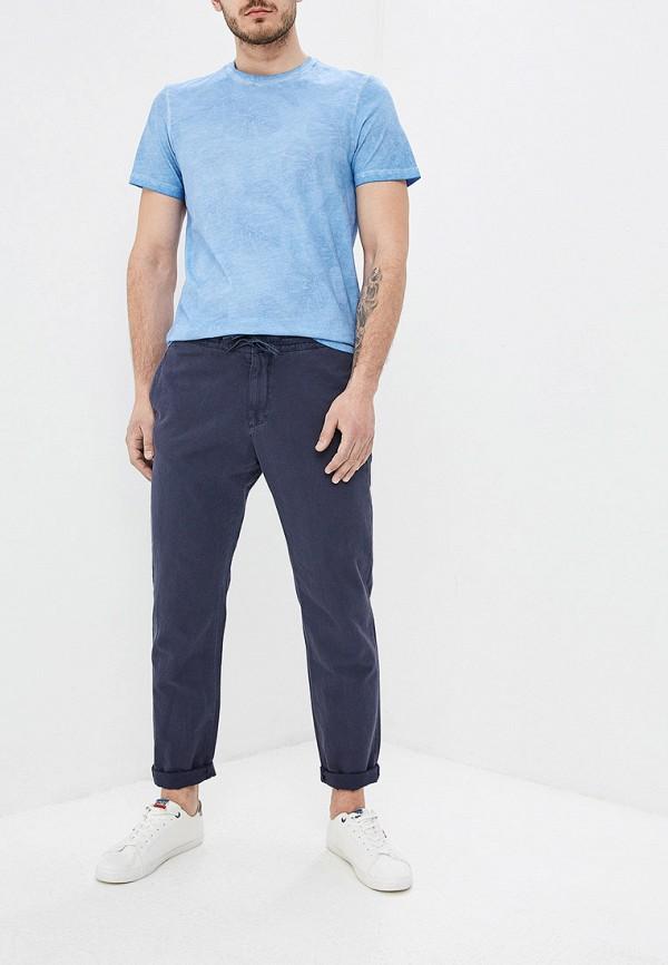 Фото 2 - мужскую футболку Strellson голубого цвета