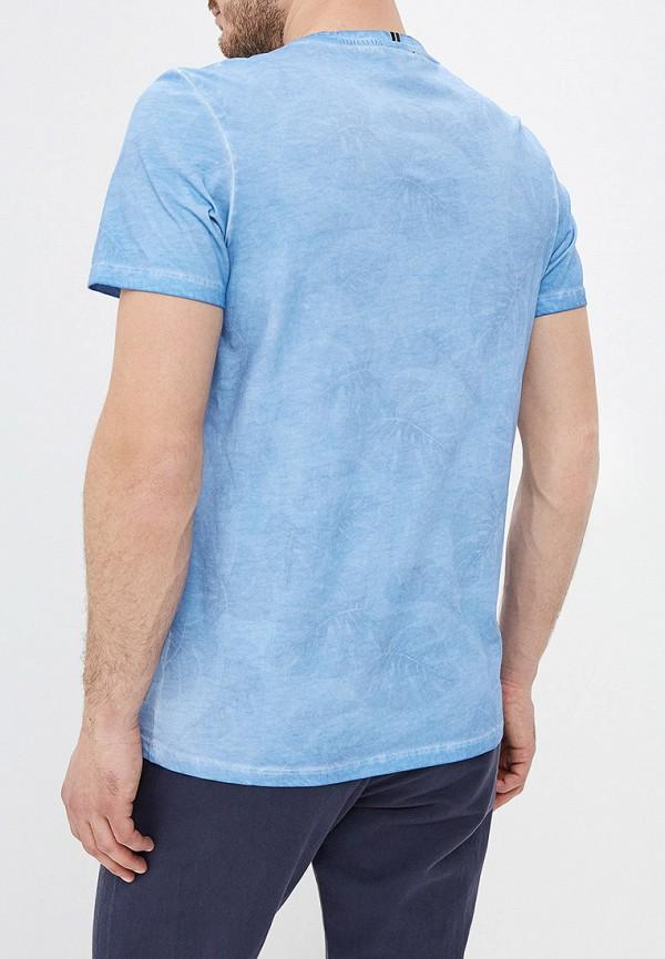 Фото 3 - мужскую футболку Strellson голубого цвета