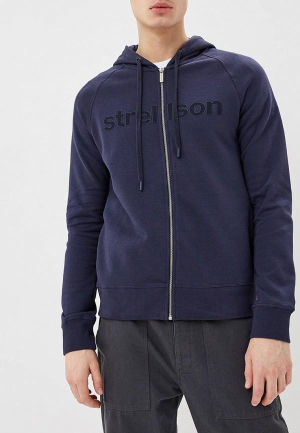 мужская толстовка strellson, синяя