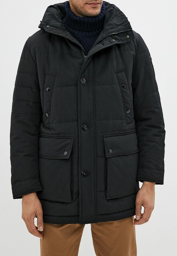 мужская утепленные куртка strellson, черная