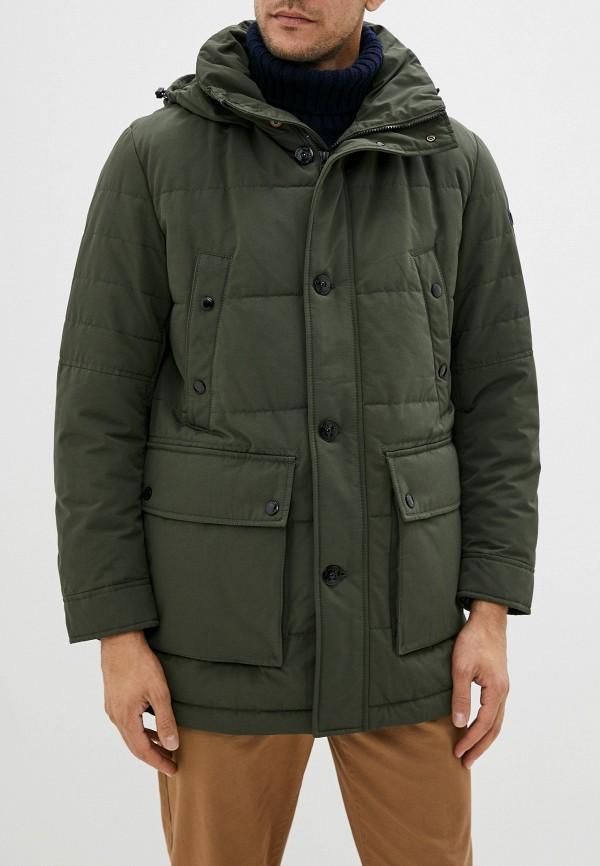 мужская утепленные куртка strellson, зеленая
