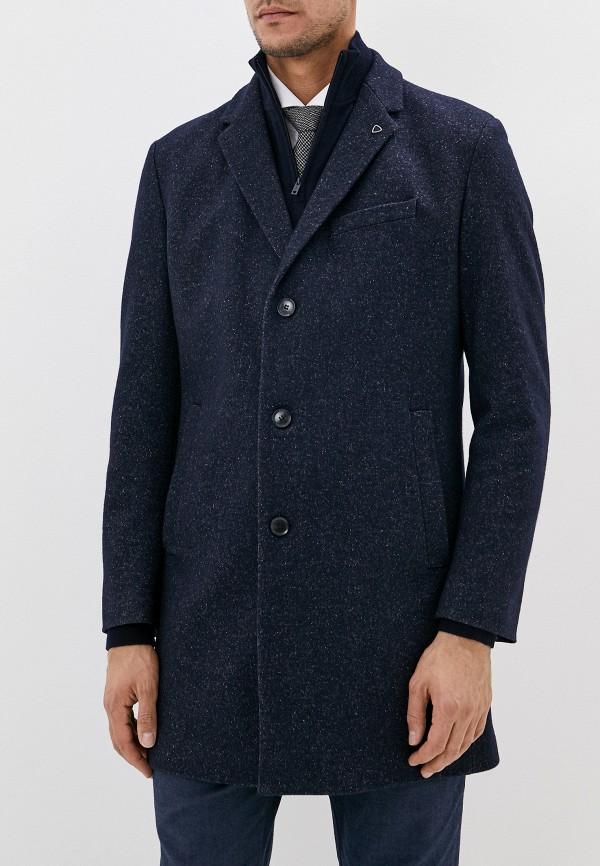 мужское пальто strellson, синее