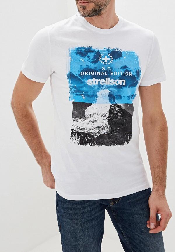 мужская футболка strellson, белая