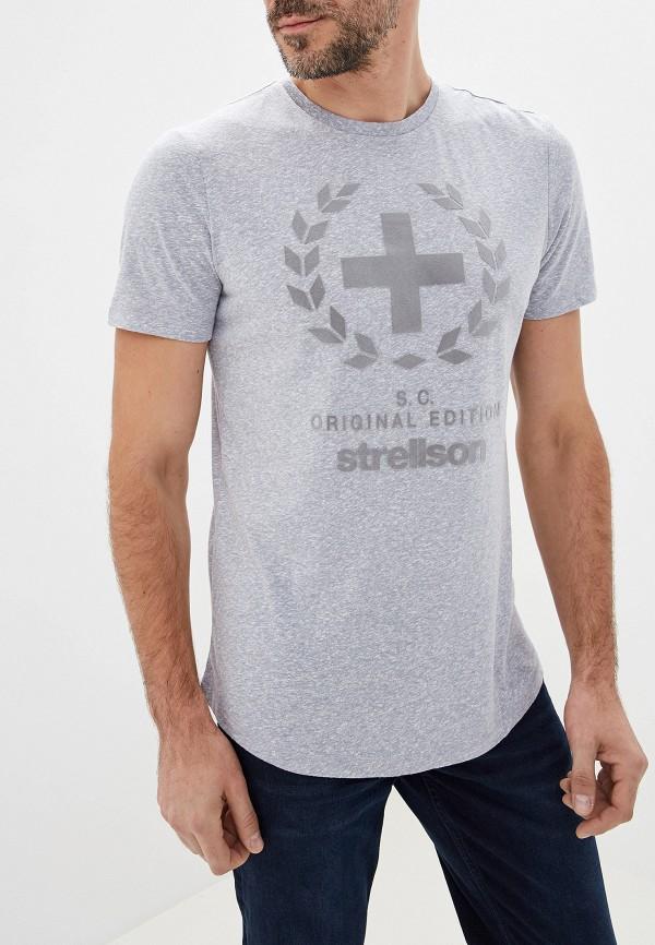 мужская футболка strellson, серая