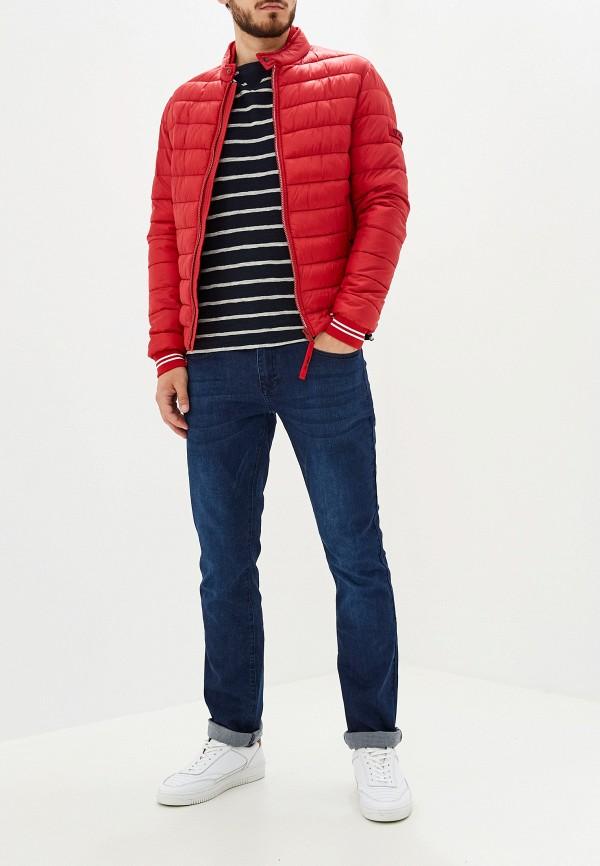 Фото 2 - Куртку утепленная Strellson красного цвета