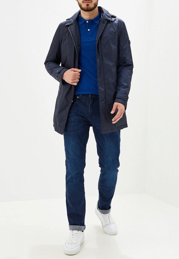 Фото 2 - Куртку утепленная Strellson синего цвета