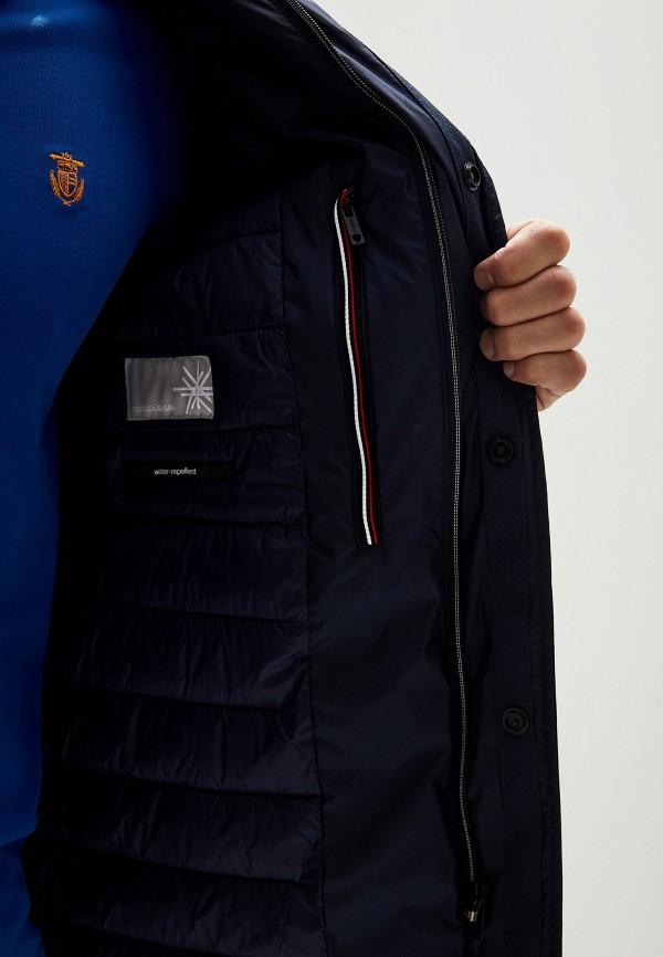 Фото 4 - Куртку утепленная Strellson синего цвета