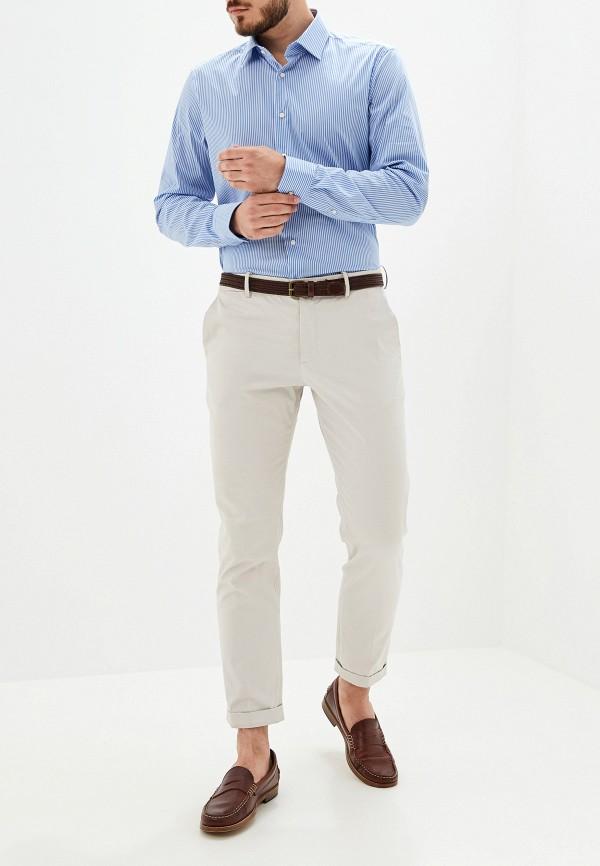 Фото 2 - мужскую рубашку Strellson голубого цвета
