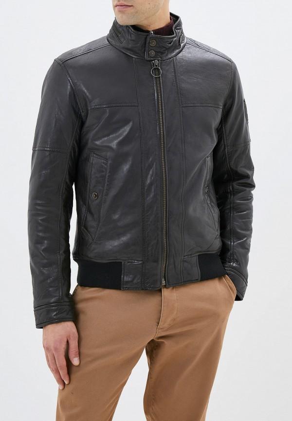 мужская кожаные куртка strellson, коричневая