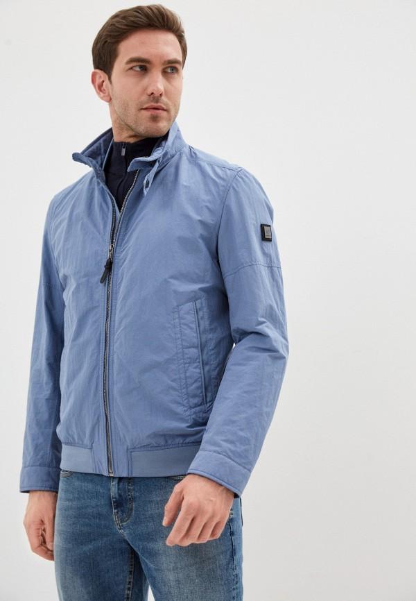 мужская куртка strellson, голубая