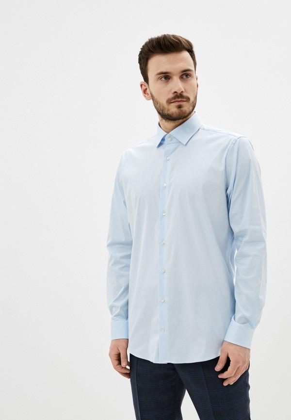 мужская рубашка с длинным рукавом strellson, голубая