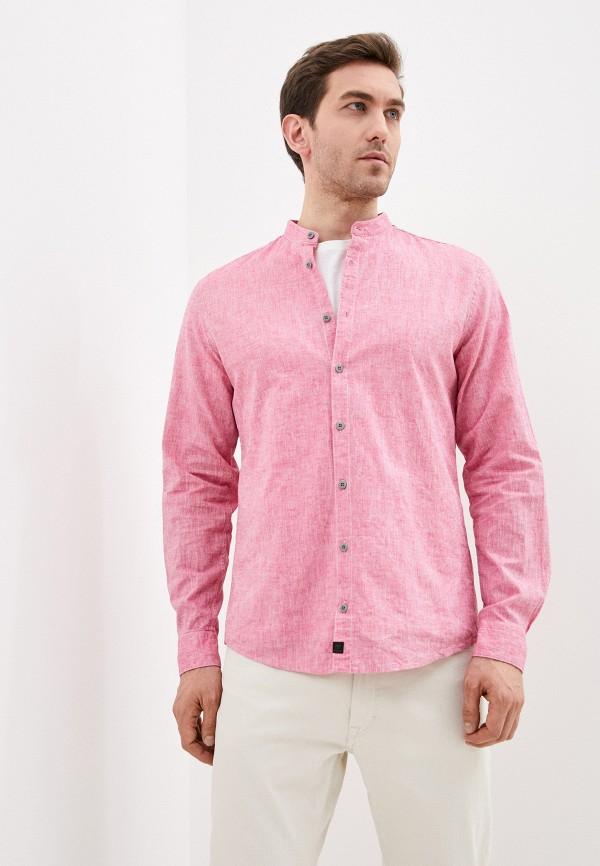 мужская рубашка с длинным рукавом strellson, розовая