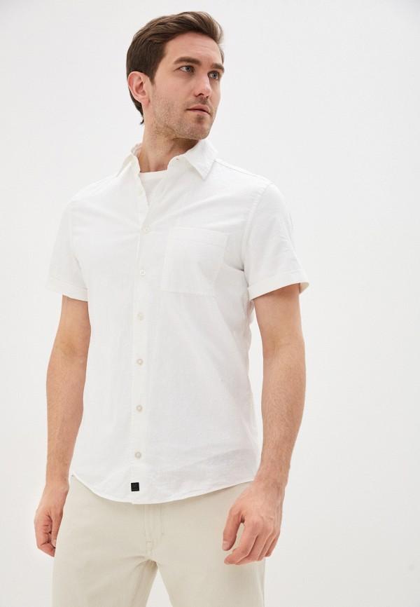мужская рубашка с коротким рукавом strellson, белая