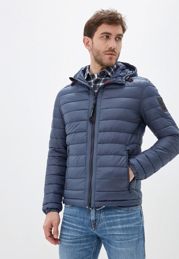 мужская утепленные куртка strellson, синяя