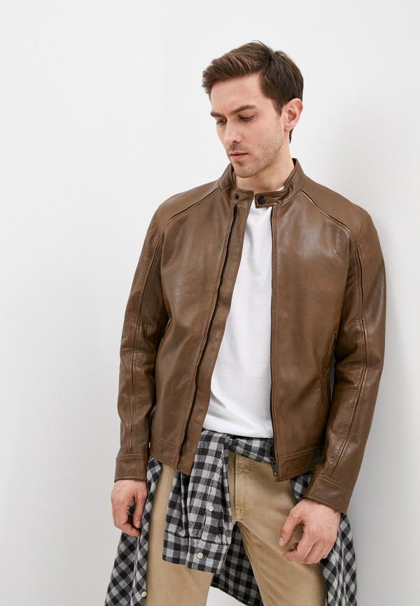 мужская куртка strellson, коричневая