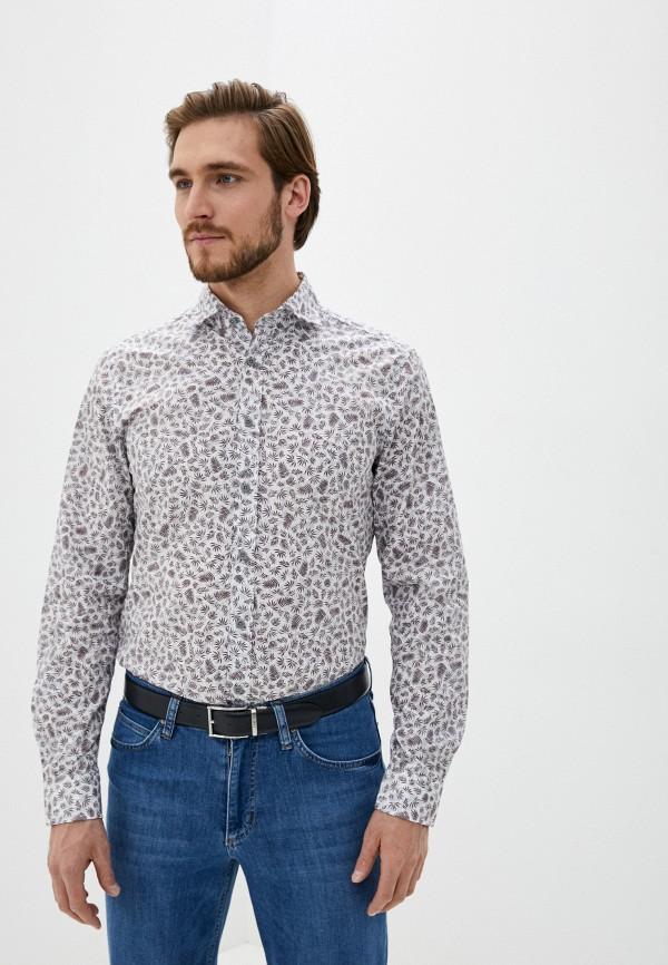 мужская рубашка с длинным рукавом strellson, фиолетовая