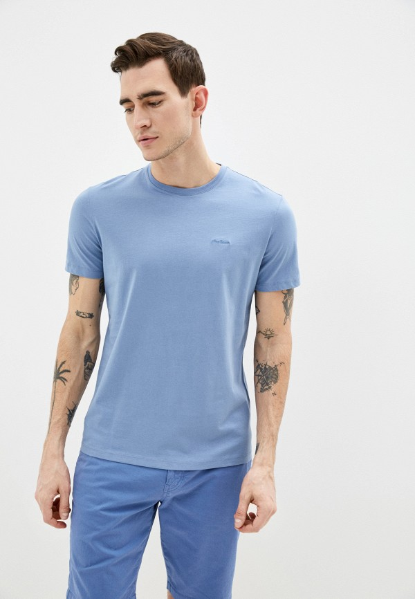 мужская футболка с коротким рукавом strellson, голубая